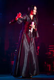 Tarja Turunen Performing Live at Aula Magna Stock Images