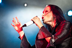 Tarja Turunen Performing Live at Aula Magna Royalty Free Stock Images