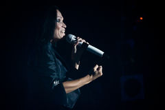 Tarja Turunen Performing Live at Aula Magna Stock Photography