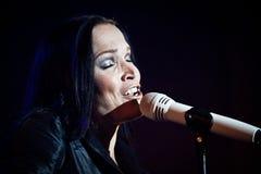 Tarja Turunen Performing Live at Aula Magna Stock Photography