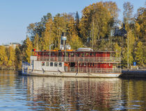 Tarjanne en puerto del bote pequeño Imágenes de archivo libres de regalías