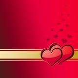 Tarjeta 1 del día de tarjetas del día de San Valentín Foto de archivo libre de regalías