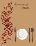 Tarjeta 1 del menú ilustración del vector