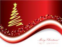 Tarjeta 2 de la Feliz Navidad ilustración del vector