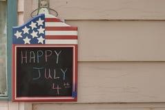 Tarjeta 2 del 4 de julio Imágenes de archivo libres de regalías