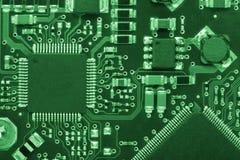 Tarjeta #2 del ordenador en estilo verde Imágenes de archivo libres de regalías