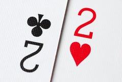 Tarjeta 2 del póker foto de archivo libre de regalías
