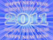 Tarjeta 2011 del Año Nuevo Foto de archivo
