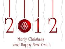 tarjeta 2012 Imagen de archivo libre de regalías