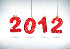 Tarjeta 2012 de felicitación de la Feliz Año Nuevo Imagenes de archivo