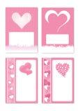 Tarjeta 3 de la tarjeta del día de San Valentín Imagen de archivo libre de regalías