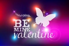Tarjeta abstracta borrosa feliz del día de tarjetas del día de San Valentín stock de ilustración