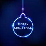 Tarjeta abstracta de la bola de la Navidad del brillo Fotografía de archivo