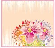 Tarjeta abstracta de la flor Foto de archivo