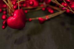 Tarjeta abstracta de la tarjeta del día de San Valentín fotografía de archivo libre de regalías