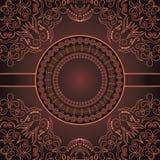 Tarjeta abstracta de la vendimia Imagen de archivo libre de regalías