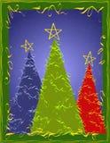 Tarjeta abstracta de los árboles de Navidad libre illustration