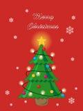 Tarjeta abstracta del árbol de navidad ilustración del vector