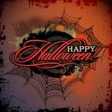 Tarjeta abstracta del diseño del grunge de Halloween del vector Imagen de archivo libre de regalías