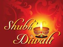 Tarjeta abstracta del diwali del shubh stock de ilustración