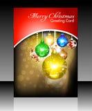 Tarjeta abstracta del flayer de la Navidad Fotografía de archivo libre de regalías