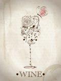 Tarjeta abstracta del vino Imagen de archivo