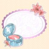Tarjeta aislada colorete del maquillaje de Skincare libre illustration