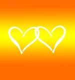 Tarjeta al día de tarjeta del día de San Valentín Imagen de archivo