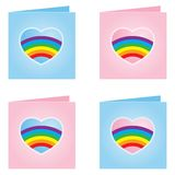 Tarjeta alegre de la tarjeta del día de San Valentín - ilustración del vector Fotos de archivo libres de regalías