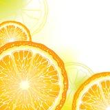 Tarjeta anaranjada Imagen de archivo libre de regalías