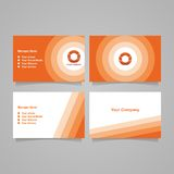 Tarjeta anaranjada de la identificación de la inicial de O Imagen de archivo