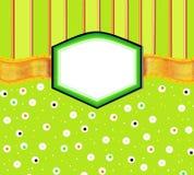 Tarjeta anaranjada verde de la invitación del ejemplo Fotografía de archivo