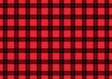 Tarjeta ancha negra y roja a cuadros Fondo de la moda del vector Foto de archivo libre de regalías