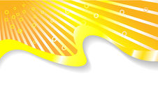 Tarjeta asoleada solar anaranjada Ilustración del Vector