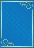 Tarjeta azul clara elegante con el modelo Foto de archivo libre de regalías