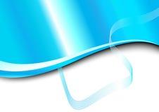 Tarjeta azul con la onda Stock de ilustración