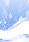 Tarjeta azul con las estrellas Ilustración del Vector