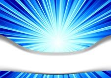 Tarjeta azul - concepto cósmico del vuelo Libre Illustration
