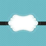 Tarjeta azul de la vendimia Imagen de archivo