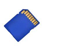 Tarjeta azul del SD de la memoria Fotografía de archivo