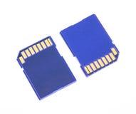 Tarjeta azul del SD de la memoria Imagen de archivo libre de regalías