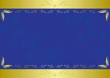 Tarjeta azul elegante con textura Fotografía de archivo libre de regalías