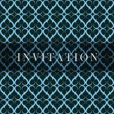 Tarjeta azul retra de la invitación Imágenes de archivo libres de regalías