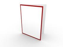 Tarjeta blanca con la frontera roja Imagenes de archivo