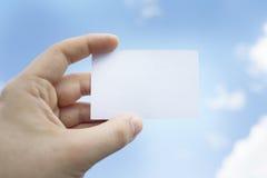 Tarjeta blanca de la visita Imágenes de archivo libres de regalías