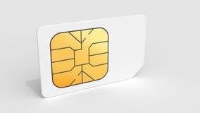 Tarjeta blanca de Sim en fondo gris claro Imágenes de archivo libres de regalías