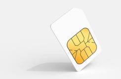 Tarjeta blanca de Sim sobre fondo gris claro Imágenes de archivo libres de regalías
