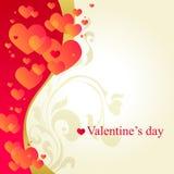 Tarjeta blanca del día de tarjeta del día de San Valentín Fotografía de archivo