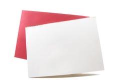 Tarjeta blanca en blanco, copyspace vacío para el texto, diseño Foto de archivo