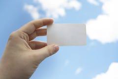 Tarjeta blanca en blanco de la visita Fotografía de archivo libre de regalías